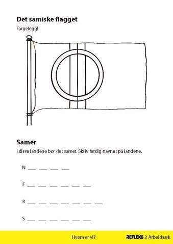 Samiske Flagg Refleks Arbeidsark
